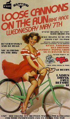 Pin Up Bike Party Invite Idea 40th Bday Ideas, Birthday Themes For Adults, Birthday Celebration, Birthday Parties, Pin Up Party, Pin Up Girl Vintage, Party Invitations, Invite, Party Themes