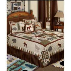 Dedicated Geometric Quilted Bedspread & Pillow Shams Set Bedding Nature Bloom Spring Print