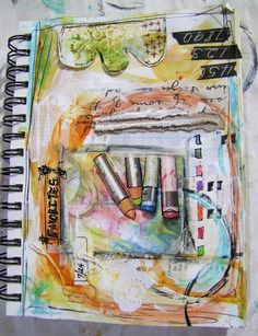 """""""Every Life Has a Story!"""" - {Roben-Marie Smith} - So, I've beenthinking...    Love Roben's style of art journaling...really appreciated the post that went along with this page."""