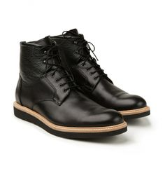 Calibre - Wedge Derby Boot (Black) - $379.00 AUD