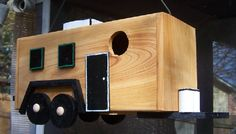 Travel Trailer Birdhouse for Two by cissyberner on Etsy