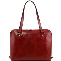 95b21b347b Red ladies leather briefcase. Rigid structureInside part1 compartmentInside  compartment with zip closure on both sidesInside