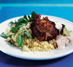 A spicy lamb and couscous meal in just 15 minutes