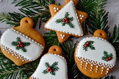 Citromhab: Mézeskalács fenyőággal December, Sugar, Cookies, Food, Crack Crackers, Biscuits, Essen, Meals, Cookie Recipes