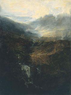 Joseph Mallord William Turner (1775–1851) 'Morning amongst the Coniston Fells, Cumberland', exhibited 1798