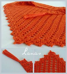 (Crochet)     Some of you crocheters will be happy to hear that there is a crochet version for the Baktus scarf  (the triangle-shaped scarf...