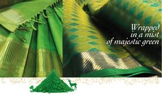 This month, join Kanakavalli and splash a different colour every day with vibrant silk saris!  This enticing colour of spring, fills the entire expanse of this gorgeous sari! Symbolising new life, nature and serenity, this emotionally positive colour is the perfect choice for this blooming season! May this season of colours bring joy and cheer to you! ! Love Green or know someone who does ? Tag them in this post!