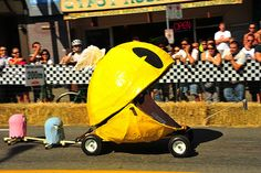 "PAC-MAN Car in ""Red Bull Soapbox"" race by Ross Finnie, via Flickr"