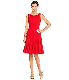 Calvin Klein Sleeveless Luxe Dress at Dillard's Women's Daytime Dresses, Day Dresses, Fit And Flare, Interview Dress, Casual Dresses For Women, Clothes For Women, Red Cocktail Dress, Calvin Klein Dress, Designer Dresses