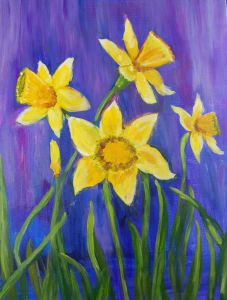 PINOT'S PALETTE. STATEN ISLAND. PAINT. DRINK. HAVE FUN. Daffodils Delight