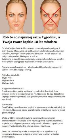 Rób to co najmniej raz w tygodniu, a Twoja twarz będzie 10 lat młodsza. Best Beauty Tips, Beauty Care, Diy Beauty, Beauty Hacks, Face Care, Body Care, Skin Care, Weight Loss Meals, Make Up Tricks