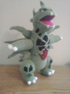 This is the next item in a list of items that my Pokemon-obsessed Etsy customer has given me.  Mega Tyranitar was much easier than most of...