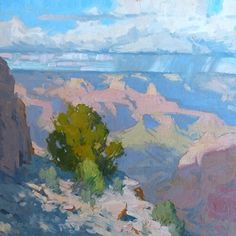 View from the Edge by Bill Cramer Oil ~ 16 x 16