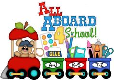 SCHOOL TRAIN, made to order, premade paper piecing, scrapbook, page, album, border, boy, girl, chalk, paint, marker, glue, crayon on Etsy, $14.99