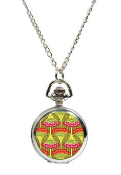 Wallpaper Fob Watch Pendant Necklace. Available at www.allgiftsonline.com.au