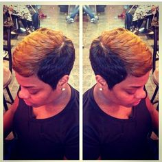 Ombre short cut, i want this look NOW! Cute Hairstyles For Short Hair, Short Hair Cuts, Pixie Cuts, Short Pixie, Dreads, Short Styles, Long Hair Styles, Pixie Styles, Styles Courts
