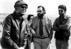 Akira Kurosawa, Coppola and George Lucas while shooting Kagemusha. Don't tell my wife but I want to name my son Akira. it means wisdom. Liam Neeson, Legendary Pictures, Gena Rowlands, Francis Ford Coppola, Fritz Lang, Photo Vintage, Faye Dunaway, Mae West, Gene Kelly