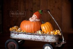 Newborn Hat Pumpkin Orange Halloween
