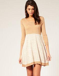 ASOS Colour Block Swing Knitted Dress