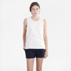 The Muscle Tank - White – Everlane Modern Essentials, Muscle Tanks, White Tank, Style Me, Basic Tank Top, Style Inspiration, Tank Tops, Stylish, Tees