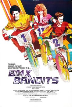 """BMX Bandits"" (1983). COUNTRY: Australia. DIRECTOR: Brian Trenchard-Smith. CAST: David Argue, John Ley, Nicole Kidman, Angelo D'Angelo, James Lugton, Bryan Marshall, Brian Sloman, Peter Browne, Bill Brady"