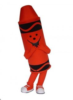 Red Tip Crayola Mascot Costume Character Red And Teal, Teal Orange, Blue Green, Yellow, Crayon Costume, Promotional Events, Character Costumes, Mascot Costumes, Fictional Characters