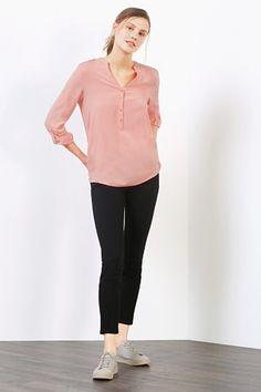 Esprit / Flowing Henley-style blouse