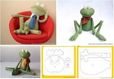 Patrones para hacer una rana de tela06 Self Binding Baby Blanket, Frog Crafts, Homemade Dolls, Animal Sewing Patterns, Activity Mat, Sewing Projects For Kids, Sewing Dolls, Soft Dolls, Stuffed Toys Patterns