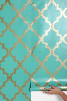 turquoise wallpaper from urban outfitters