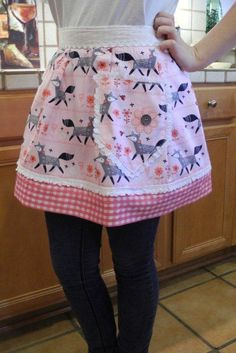 You're So Foxy Apron  Half Apron  Fox Fabric by ReHemmedAprons, $25.00