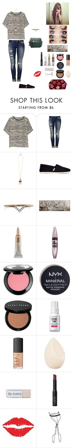 """Untitled No. 23"" by megan-113 ❤ liked on Polyvore featuring Vince, Mavi, BaubleBar, TOMS, Diamonds Unleashed, Urban Decay, Maybelline, NYX, Bobbi Brown Cosmetics and Bare Escentuals"