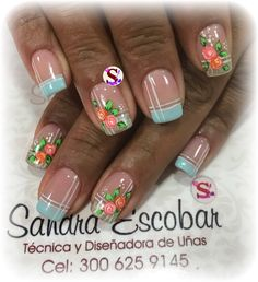 Flower Nail Art, French Tip Nails, Fun Nails, Nail Art Designs, Lily, Makeup, Beauty, Nail Art, Art Nails