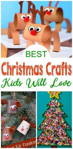 BEST Christmas Crafts For Kids! Easy To Make DIY Christmas Craft Projects - Simple Homemade Ideas - Toddlers - Preschool - Children