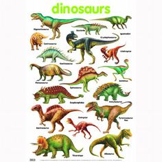 DINOSAURS names with pictures