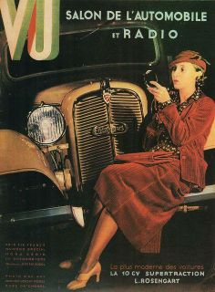 Cover of VU (Chanel Dress) October 1933 By Man Ray