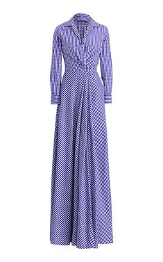 Rivera Gingham Evening Dress by Ralph Lauren Pre-Fall 2018