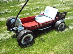 red wagon hot rod radio flyer | Built this one for my grandson out of my daughters old wagon.