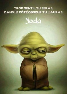 Mais non Maître Yoda tout le monde n'est pas ingrat . ...Et puis....Il n'y a vraiment personne sur terre qui soit véritablement très gentil Alors dans le côté obscur il y a sûrement comme sur un rond point un sens giratoire ...On a la priorité chacun son tour !!! Cher Maître !!!