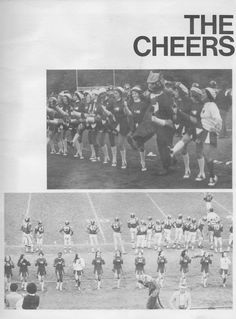 Cheerleading photo from the 1978