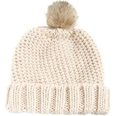 Asos Fur Pom Beanie ($23) ❤ liked on Polyvore