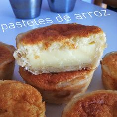 Biscayenne: for irredentious gluttons: Bilbao's rice cakes things tapas Spanish Desserts, Just Desserts, Delicious Desserts, Yummy Food, Mexican Food Recipes, Sweet Recipes, Dessert Recipes, Sweets Cake, Cupcake Cakes