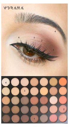 Simple Makeup Looks, Simple Eye Makeup, Eye Makeup Tips, Cute Makeup, Makeup Videos, Makeup Trends, Makeup Eyeshadow, Natural Makeup, Makeup Inspo