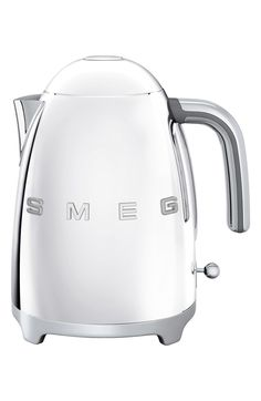 50s Retro Style Electric Kettle,                         Main,                         color, Stainless Steel