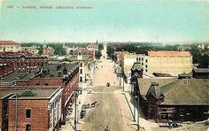 Cheyenne Wyoming WY 1908 Downtown Capitol Avenue Antique Vintage Postcard