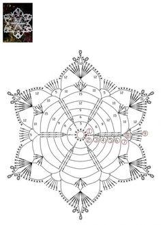 How To Knit: Crochet snowflakes, free crochet pattern Crochet Stitches Chart, Dishcloth Knitting Patterns, Crochet Diagram, Crochet Basics, Crochet Blanket Patterns, Knit Dishcloth, Crochet Snowflake Pattern, Crochet Snowflakes, Crochet Mandala