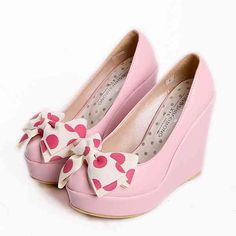 Super tide thick heel wedges bowknot fashion lady shoes _Pumps_Womens Shoes_Cheap Clothes,Cheap Shoes Online,Wholesale Shoes,Clothing On lovelywholesale.com - LovelyWholesale.com