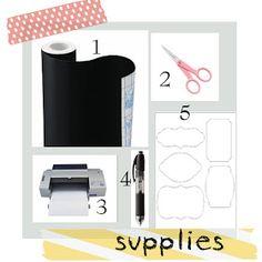 soubelles: DIY Chalkboard Labels