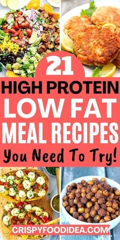 Healthy High Protein Meals, High Protein Dinner, Low Fat Snacks, High Protein Low Carb, Healthy Low Carb Recipes, Healthy Weight, High Protein Chicken Recipes, High Protein Bariatric Recipes, Protein Dinners