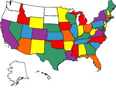 Visited United States Map Us Map With Colored States Color Usa Map For Travellers
