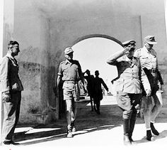 Field Marshal Erwin Rommel. The Deutsches Afrikakorps Sollum front, May 1941: General Rommel with entourage inspecting our position.